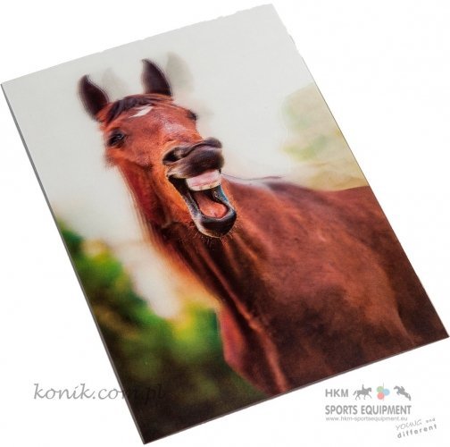 Pocztówka 3D z motywem konia - HKM