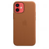 Apple Skórzane etui z MagSafe do iPhone'a 12 / 12 Pro – naturalny brąz