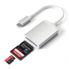 Satechi UHS-II Micro/SD Card Reader USB-C Silver