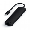 Satechi USB-C Slim Multiport Ethernet HUB - HDMI 4K / USB 3.0 / USB-C(PD) / microSD / SD / Ethernet / Black (czarny)