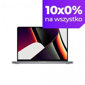 Apple MacBook Pro 14 M1 Pro 10-core CPU + 32-core GPU / 64GB RAM / 8TB SSD / Gwiezdna szarość (Space Gray)