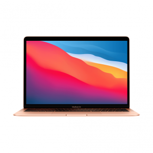 MacBook Air z Procesorem Apple M1 - 8-core CPU + 8-core GPU / 16GB RAM / 1TB SSD / 2 x Thunderbolt / Gold (złoty) 2020 - nowy model