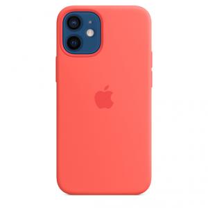 Apple Silikonowe etui z MagSafe do iPhone'a 12 / 12 Pro – różowy cytrus