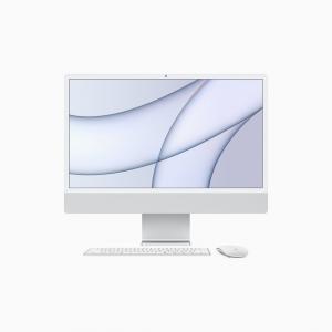 Apple iMac 24 4,5K Retina M1 8-core CPU + 8-core GPU / 8GB / 512GB SSD / Gigabit Ethernet / Srebrny (Silver) - 2021