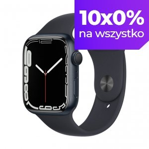Apple Watch Series 7 45mm GPS Koperta z aluminium w kolorze północy z paskiem sportowym w kolorze północy
