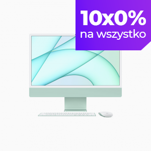 Apple iMac 24 4,5K Retina M1 8-core CPU + 8-core GPU / 8GB / 256GB SSD / Gigabit Ethernet / Zielony (Green) - 2021