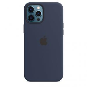 Apple Silikonowe etui z MagSafe do iPhone'a 12 Pro Max – głęboki granat