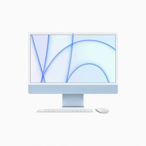 Apple iMac 24 4,5K Retina M1 8-core CPU + 8-core GPU / 16GB / 256GB SSD / Gigabit Ethernet / Niebieski (Blue) - 2021