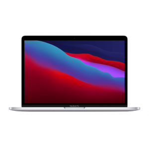 MacBook Pro 13 z Procesorem Apple M1 - 8-core CPU + 8-core GPU / 16GB RAM / 512GB SSD / 2 x Thunderbolt / Silver (srebrny) 2020 - nowy model