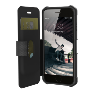 UAG Metropolis - obudowa ochronna z klapką do iPhone 6s/7/8 (czarna) IPH7/6S-E-BL