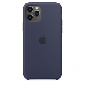 Apple Silikonowe etui do iPhone'a 11 Pro – nocny błękit