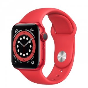 Apple Watch Series 6 40mm GPS Aluminium z edycji PRODUCT(RED) z paskiem sportowym z edycji PRODUCT(RED)