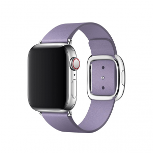 Apple pasek z klamrą nowoczesną w kolorze liliowym do Apple Watch 38/40 mm - Rozmiar S