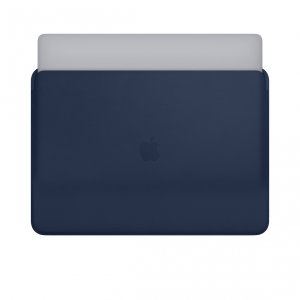 Apple Leather Sleeve - Skórzany futerał do MacBook Pro 15 - Midnight Blue (nocny błękit)