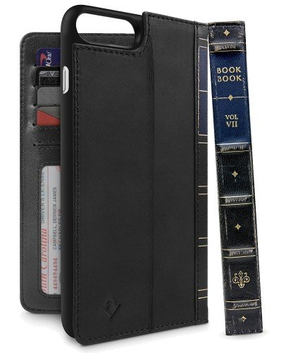 Twelve South BookBook - etui skórzane do iPhone 7/8 Plus (czarne) 12-1661