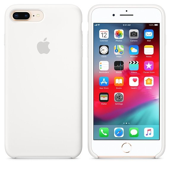 Apple Silicon Case Etui do iPhone 7/8 Plus White (biały)