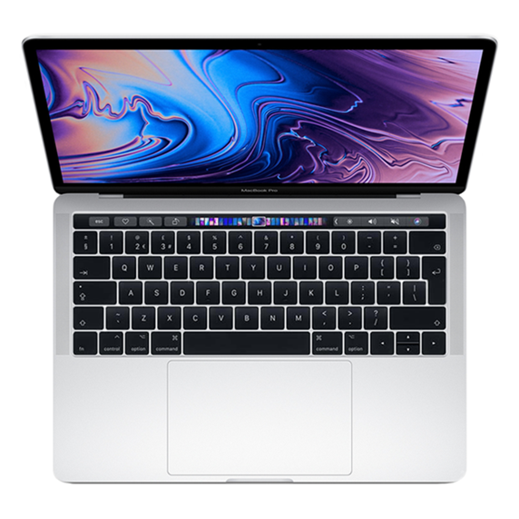 MacBook Pro 13 Retina Touch Bar i7 1,7GHz / 8GB / 128GB SSD / Iris Plus Graphics 645 / macOS / Silver (2019)