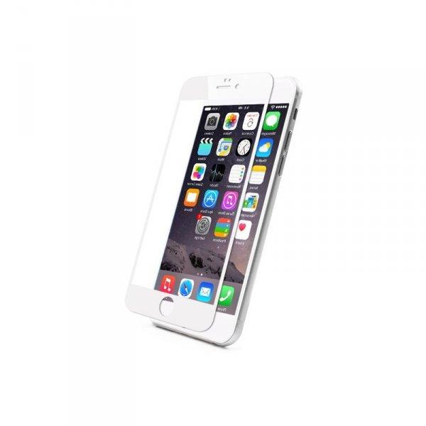 KMP Szkło ochronne na iPhone 6S/6 (biały)