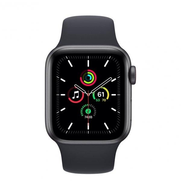 Apple Watch SE 40mm GPS + Cellular Aluminium w kolorze gwiezdnej szarości z paskiem sportowym w kolorze północy