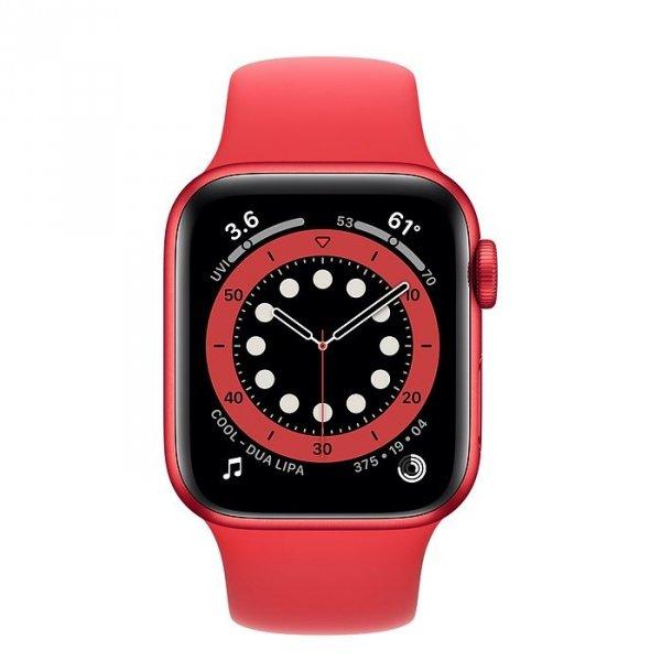 Apple Watch Series 6 40mm GPS Aluminium z edycji PRODUCT(RED) z paskiem sportowym z edycji PRODUCT(RED)