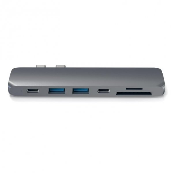 Satechi PRO USB-C Hub - Thunedrbolt 3/HDMI/USB 3.0/USB-C/SD/microSD/Space Gray