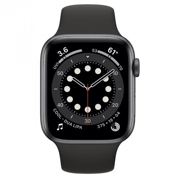 Apple Watch Series 6 44mm GPS Aluminium w kolorze gwiezdnej szarości z paskiem sportowym w kolorze czarnym