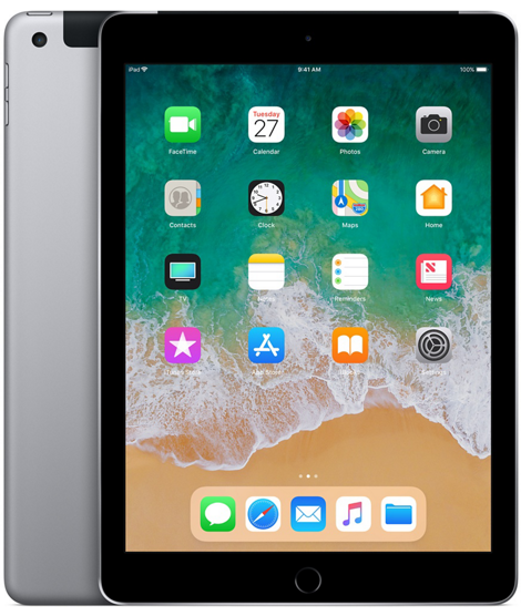 iPad 6-gen 9,7 128GB LTE + Wi-Fi Space Gray