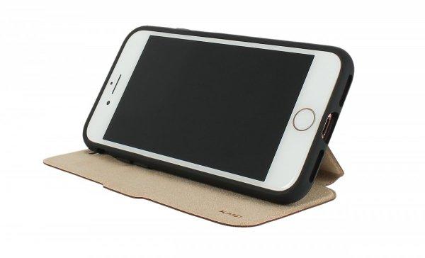 KMP Bookcase Etui z klapką do iPhone 8 / iPhone 7 Manhattan Black (czarny)