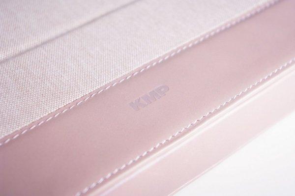 """KMP Etui na MacBook & iPad Pro 12,9"""" - Szary/Różowy"""