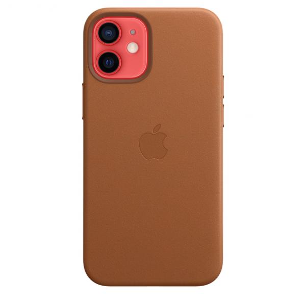 Apple Skórzane etui z MagSafe do iPhone'a 12 mini – naturalny brąz