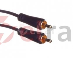 Kabel audio RCA /CINCH/ wtyk - RCA /CINCH/ wtyk czarny 5m 122268