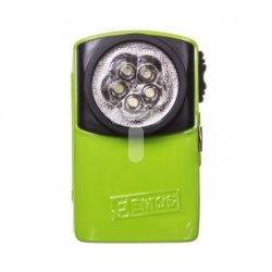 Latarka metalowa płaska LED 17lm 3R12 4,5V zielona/niebieska P3885