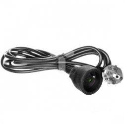 Przedłużacz 1-gniazdo z/u 3m /H05VV-F 3x1/ czarny PC0113