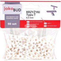 Krzyżyki dystansowe do glazury typ T  6mm M-01-012 /50 szt./