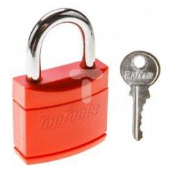 Kłódka 30 mm powlekana 2 klucze 90U285
