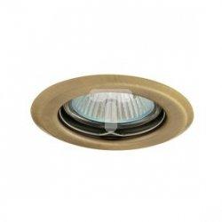 Oczko halogenowe 12V MR16 GU5,3 50W stalowe, nieregulowane, matowy mosiądz AXL 2114 PV16P-BRM GXPP006