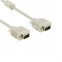 Kabel monitorowy VGA D-Sub(15-pin) SVGA 3m /+ferryt/ szary 04685