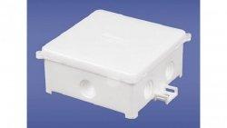 Puszka instalacyjna natynkowa 80x80x41mm IP44 biała PIN 80/B 31.80