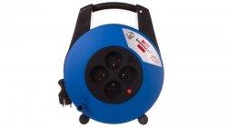 Przedłużacz zwijany kompaktowy Vario Line 4x230V 15m czarno-niebieski  H05VV-F 3G1,5 22,5x27x12cm 1104154