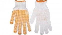 Rękawice robocze dzianina bawełniana jednostronnie nakrapiana gumą rozmiar 10 cali 83S302