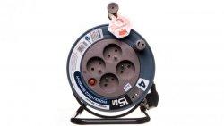 Przedłużacz bębnowy MINI 15m 4x230V /PVC 3x1mm2/ szary OR-AE-1339/G