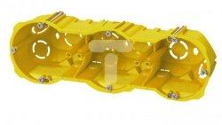 Puszka p/t PK-3x60 k/g głeboka bezhalogenowa samogasnąca IP20 żółta RAL 1021 0287-00N