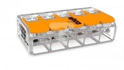 Szybkozłączka 5x0,5-6mm2 transparentna / pomarańczowa 221-615 /15szt./