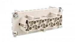 Wkład złącza 16P+PE żeński 16A 500V EPIC H-BE 16 BS 10203000