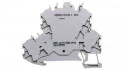 Złączka 2-piętrowa 2,5mm2 diodowa szara TOPJOBS 2002-2211/1000-410 /50szt./