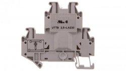 Złączka szynowa elementów kontrolnych 2-piętrowa 4-przewodowa 2,5mm2 szara UTTB 2,5-LA 230 3046715