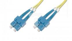 Patch cord światłowodowy SC/SC duplex SM 9/125 OS2 1m LS0H żółty DK-2922-01