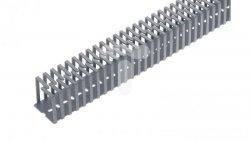 Korytko grzebieniowe elestyczne mocowane śrubami 12.5x12.5x500 szare /0.5m/ EC23401