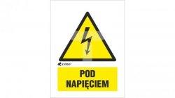 Tabliczka ostrzegawcza /POD NAPIĘCIEM 52x74/ 2EOA/Q1/F
