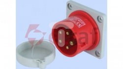 Wtyczka tablicowa prosta 16A 3P+N+Z 400V czerwona IP44 WTP 16 5 922030